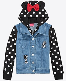 Toddler Girls Layered-Look Denim Jacket