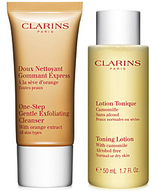 Free 2 pc gift with $100 Clarins purchase