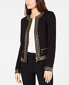 MICHAEL Michael Kors Stud-Embellished Jacket