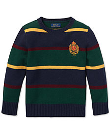 Polo Ralph Lauren Toddler Boys Striped Merino Wool Sweater