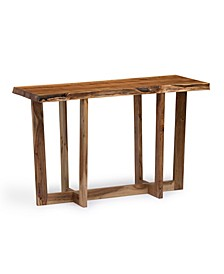 Berkshire Natural Live Edge Wood Media Console Table