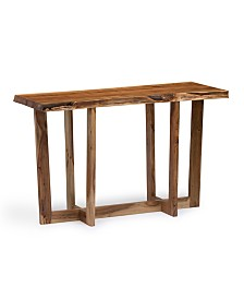 Alaterre Furniture Berkshire Natural Live Edge Wood Media Console Table
