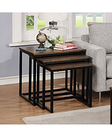 "Arcadia Acacia Wood 24"" Square Nesting End Tables"
