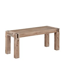 "Woodstock Acacia Wood With Metal Inset 40"" Bench"