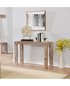 Woodstock Acacia Wood With Metal Inset Media Console Table
