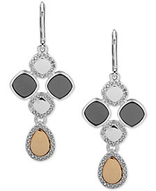 Nine West Pavé Accent Chandelier Earrings
