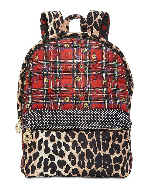 Betsey Johnson Mixed-Print Backpack   Reviews - Handbags ... abfbf15930181