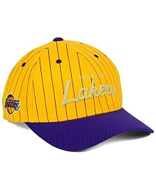 Mitchell & Ness Los Angeles Lakers Pinstripe Snapback Cap