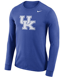 Nike Men's Kentucky Wildcats Dri-FIT Cotton Logo Long Sleeve T-Shirt
