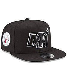 New Era Miami Heat Anniversary Patch 9FIFTY Snapback Cap
