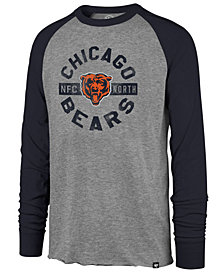 '47 Brand Men's Chicago Bears Retro Encircled Long Sleeve Club Raglan T-Shirt