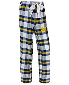 Women's Michigan Wolverines Homestretch Flannel Pajama Pants