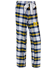 Concepts Sport Women's Michigan Wolverines Homestretch Flannel Pajama Pants