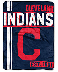 Northwest Company Cleveland Indians Micro Raschel Structure Blanket
