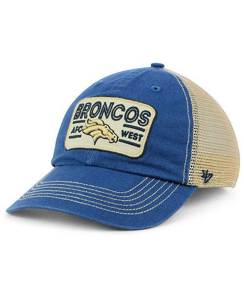 47 Brand Denver Broncos Sallana Mesh CLEAN UP Cap - Sports Fan Shop ... 8db132446