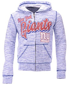 5th & Ocean New York Giants Space Dye Hoodie, Girls (4-16)