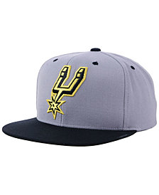 Mitchell & Ness San Antonio Spurs Black & Gold Metallic Snapback Cap