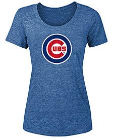 5th & Ocean Women's Chicago Cubs Tri-Blend Crew T-Shirt