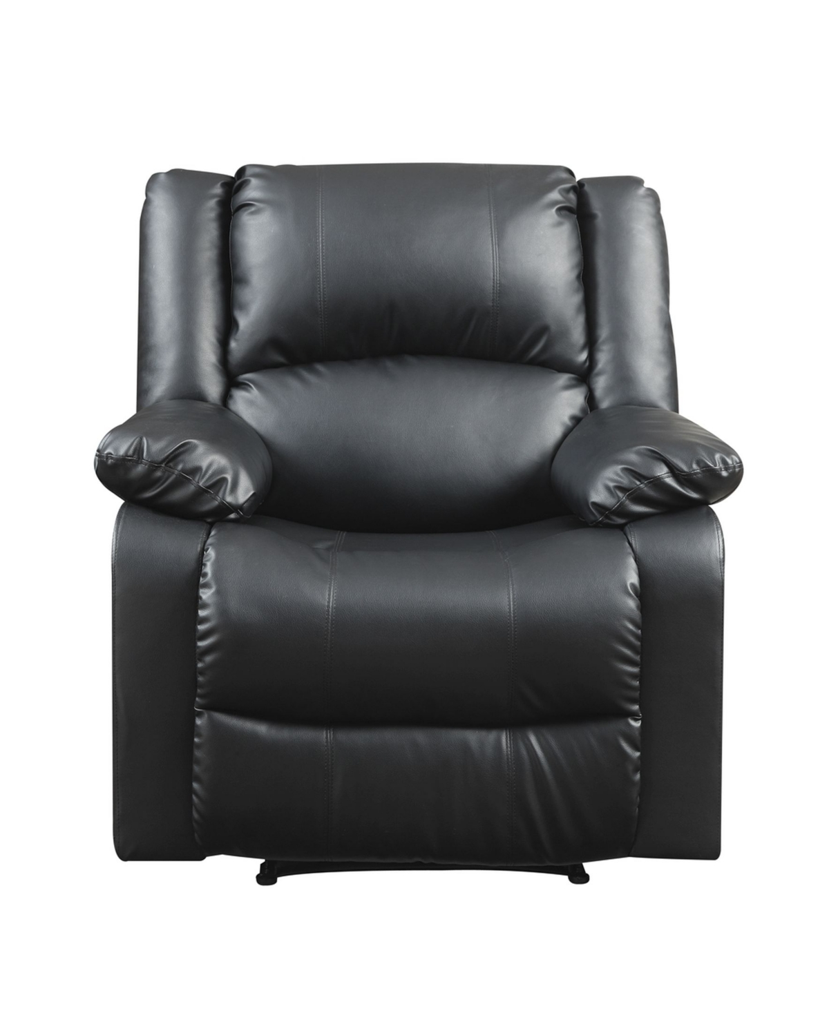 Preston 38 Inch Black Faux Leather Recliner Chair