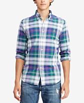 5560ada78e49 Polo Ralph Lauren Men s Classic Fit Plaid Oxford Shirt. Quickview. 12 colors