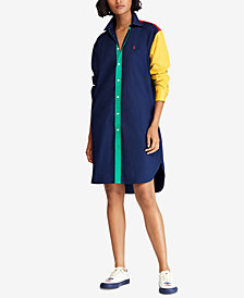 Polo Ralph Lauren Colorblocked Cotton Dress