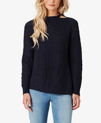 Jessica Simpson Juniors Oasis Cutout Cable Knit Sweater Sweaters