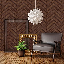 Tempaper Textured Herringbone Self-Adhesive Wallpaper