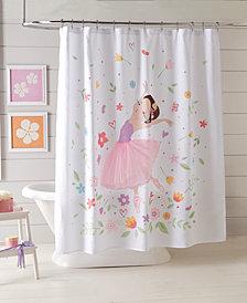 Dream Factory Ballerina Shower Curtain