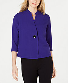 Kasper Petite One-Button Jacket