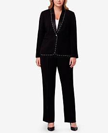 Tahari ASL Plus Size Embellished Pantsuit