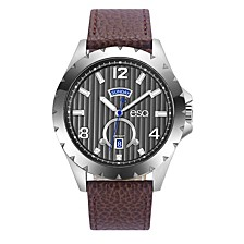 Men's Stainless Steel Watch, Grey Dial, Day and Date Windows