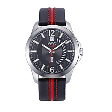 Men's Stainless Steel Watch, Black Dial, Day and Date Windows