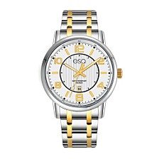 Men's ESQ0251 Two-Tone IP Stainless Steel Bracelet Watch with White Dial