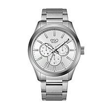 Men's ESQ0010 Multi-Function Stainless Steel Bracelet Watch, Silver Dial