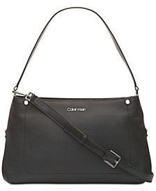 Calvin Klein Jackson Pebble Leather Crossbody