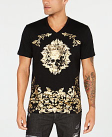 I.N.C. Men's Metallic Skull Graphic T-Shirt, Created for Macy's