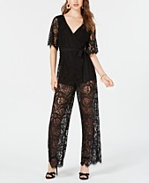 e3862665c3b Trixxi Juniors  Open-Back Lace Jumpsuit