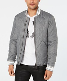 A|X Armani Exchange Men's Diamond Quilted Bomber Jacket