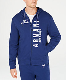 A|X Armani Exchange Men's NYC Graphic Front-Zip Hoodie