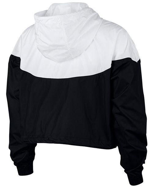 18aabaa01abc Nike Sportswear Cropped Hooded Windbreaker   Reviews - Jackets ...
