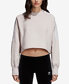 adidas Originals Three-Stripe Fleece Sweatshirt