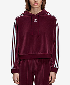 adidas Originals Adicolor Cropped Velour Hoodie