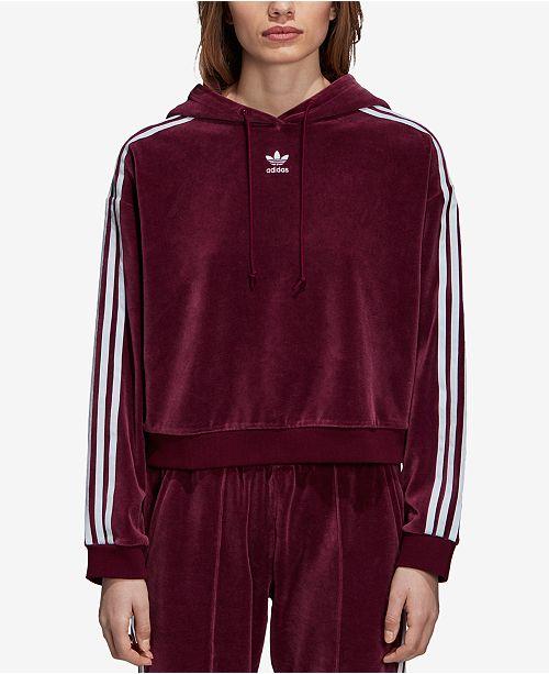 adidas hoodie velour