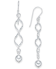 Giani Bernini Twisted Ball Drop Earrings in Sterling Silver, Created for Macy's