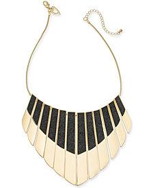 "Thalia Sodi Gold-Tone Sugar Glitter Statement Necklace, 16"" + 3"" extender, Created for Macy's"