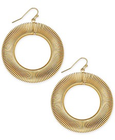 Thalia Sodi Gold-Tone Wire Wrap Drop Hoop Earrings, Created for Macy's