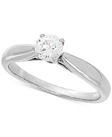 Lab Grown Diamond Solitaire Engagement Ring (1/2 ct. t.w.) in 14k White Gold
