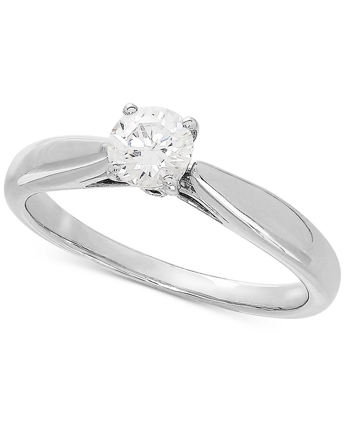 Grown With Love - Lab Grown Diamond Solitaire Engagement Ring (1/2 ct. t.w.) in 14k White Gold