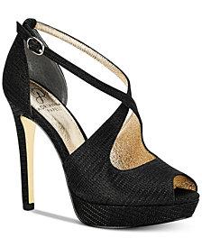 Adrianna Papell Rosalie Platform Evening Sandals