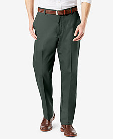 New Dockers Men's Signature Lux Cotton Classic-Fit Flat Front Stretch Pants